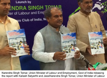 "India's Union Labour Minister launches ""Economics Behind Forced Labour Trafficking"" report and ""Anthem Against Child Labour"""