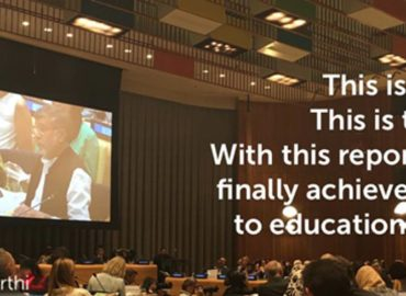 Linking education financing to the marginalised children: Kailash Satyarthi at the UN Headquarters