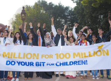 Thousands of children and youth, match steps with Laureates and Leaders to demand an end to child exploitation