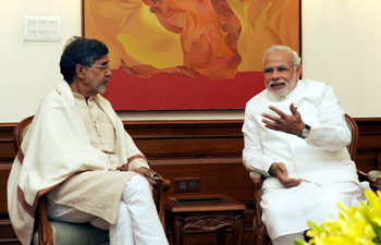 Chairperson Kailash Satyarthi meets the Prime Minister of India