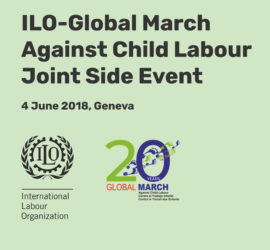 ILO – Global March Against Child Labour Joint Side Event