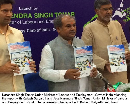 """India's Union Labour Minister launches """"Economics Behind Forced Labour Trafficking"""" report and """"Anthem Against Child Labour"""""""