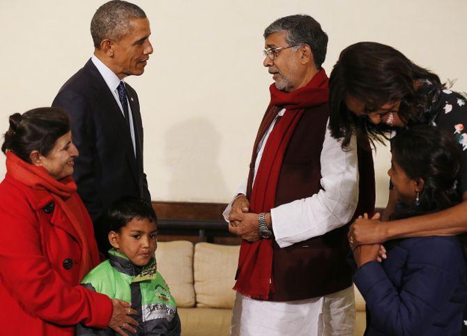 Chairperson, Global March & Nobel Peace Laureate 2014,Kailash Satyarthi Meets U.S. President Barack Obama