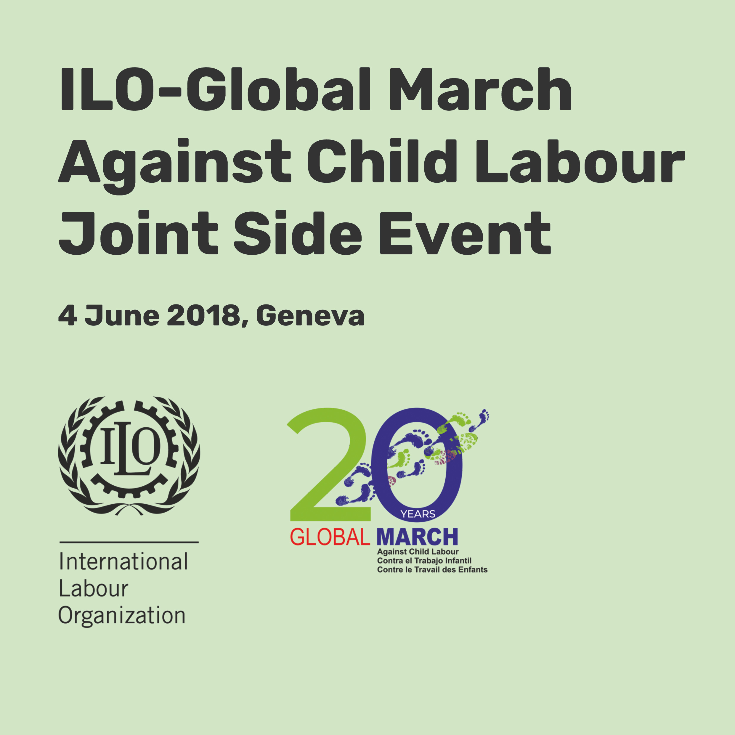 ILO-Global March Against Child Labour  Joint Side Event