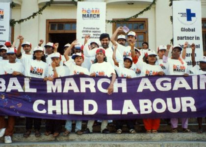 Kailash Satyarthi and Global March's Demand ILO Convention 182 Universally Ratified