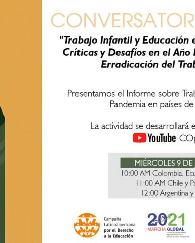 Report on Child Labour and Education during COVID-19 in South America by Global March Members