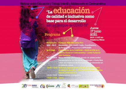 Report on Child Labour and Education during COVID-19 in Central America (CA) by Global March Members